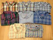 Menand039s Huge Lot Of 8 Alan Flusser Long Sleeve Button Down Shirts Size Xl