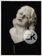 Jean Harlow Hollywood Blonde Platine Oversize Pach Brothers Photo 1930s