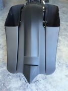 Stretched Saddle Bags And Rear Fender Long Tail For Harley Touring Baggers