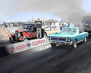Car Print Put Your Ride At A Street Outlaws Drag Race Venue