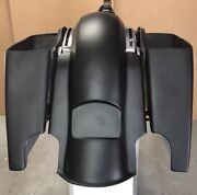 Stretched Harley 6 Inch Saddlebags/rear Replacement Fender No Lids 2014-2018
