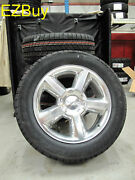 20 New Gmc Chevrolet Factory Polished Wheels 275-55-20 Goodyear Tires