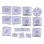 14pc/kit Window Switch Button Cover Fit For Mercedes Benz A B E Class Glk Cla Ml