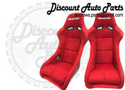 Bride Zeta 2 Two Red Seats Low Max Jdm Bucket Racing Seats Jdm Pair Vios Zieg
