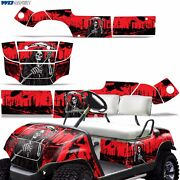 Yamaha Golf Cart Graphic Kit Decal Sticker Parts 2 Seater Wrap 95-06 Reap Red