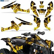 Graphic Kit Canam Renegade X/r Atv Quad Decals Wrap Can Am 500/800/1000 Ice Yllw