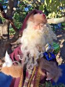 Vintage Handmade Unique Santa Claus Peace Dove Gifts Fur 12 ▬ One Of A Kind ❤️
