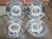 1958 Oldsmobile 14 Hub Caps Set Of 4 Wheel Covers 58 Olds Hubcaps Cream Centers