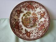 Vintage Royal Staffordshire Tonquin Brown By Clarise Cliff Saucer-shows Crazing