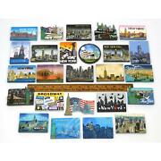 Lot Of 26 New York-nyc Poly-resin Fridge Magnets Refrigerator Magnet No Doubles