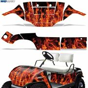 New Yamaha Golf Cart Graphic Kit Decal Sticker Parts 2 Seater Wrap 95-06 N-flame