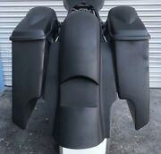 Stretched Harley 6 Inch Saddlebags/rear Replacement Fender No Lids 2009-2013