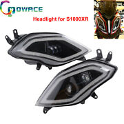 Led Headlight Assembly With Angel Eye Pair New Fit For Bmw S1000xr Accessories