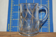 Vintage Art Deco Sterling Silver Overlay Syrup Pitcher - 3 1/2 Inches Tall