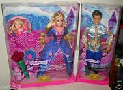 6723 Rare Nrfb Mattel Foreign Fairy Tale Sleeping Beauty Barbie And Ken