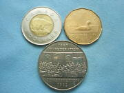 Canada Lot 4 Coins Dollar And 2 Dollars 1969 1982 1987 2001 Constitution Unc