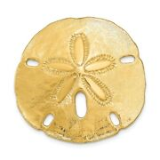 14k 14kt Yellow Gold Polished Fits Up To 10mm And 8mm Medium Sand Dollar Slide