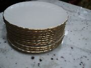 Lenox White And Gold 12 Salad Plates Laurent