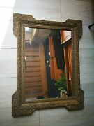 Antique French Gold Gesso Plaster Mirror Frame Shabby