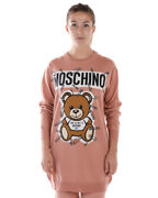 Moschino Dress Wool Made In Italy Woman Pink V04935501 1147 Sz.xxs Make Offer