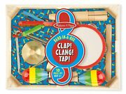 Wooden Music Toy Band-in-a-box Clap Clang Tap Musical Set Melissa And Doug 10488