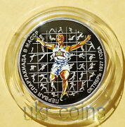 2007 Transnistria Moldova Sports 1/2 Oz Silver Proof Color Coin Running Olympics