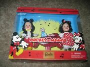 Barbie Disney Mickey And Minnie Mouse Kelly And Tommy Collectors Set New