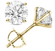 1.80 Ctw H Vs1 Real 100 Natural Diamond Round Cut Stud Earrings 18k Yellow Gold
