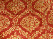 Duralee Tizio Damask Cotton Drapery/upholstery Fabric And Coord Bullion Trim