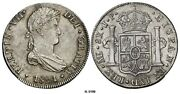 Peru 1821-l Jp 8 Reales Coin 1811-1824 For Ferdinand Vii World Coins