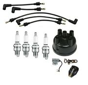 Ignition Tune Up Kit Ford 641, 651, 741, 841, 851 Tractor Usa Copper Plug Wires