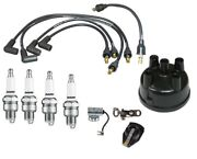 Distributor Ignition Tune Up Kit W/ Usa Copper Plug Wires For Ford 8n Tractor