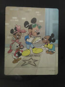 Very Rare Disney Metallic Foiled Mickey Mouse Autographing On Hollywood Star