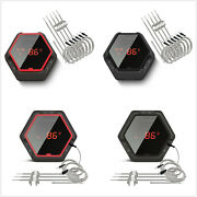 4/6 Probes Bluetooth Grill Bbq Thermometer Temperature Gauge Meat Kitchen Oven