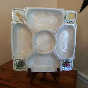 American Atelier Serving Platter Chip And Dip Appetizer San Marco 5114 Earthenware