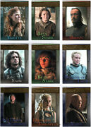 Game Of Thrones Season 4 Gold Parallel Base Trading Card Set 1-100 And039d Xxx/150