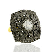 Pave Diamond 14k Gold 925 Sterling Silver Antique Ring Jewelry
