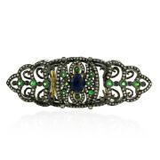 3.3ct Pave Diamond And Gemstone Knuckle Ring 18k Gold 925 Sterling Silver Jewelry