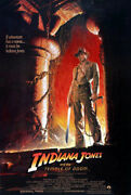 Indiana Jones And The Temple Of Doom 1984 Movie Poster A Original Ss Rolled