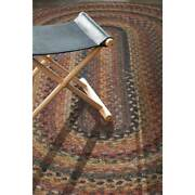 Capel Rugs Kill Devil Hill Wool Country Braided Oval Area Rug Antique Multi 900