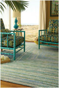 Capel Rugs Waterway Soft Cotton Chenille Concentric Braided Rug Parrot 100