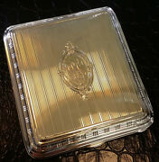 1920and039s 14k Yellow Gold Vintage Cigarette Case With Engraving