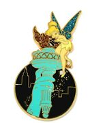 Rare Le 100 Disney Auctions Pin✿tink Tinker Bell New York City Statue Of Liberty
