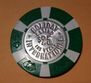 1977 Holiday International Casino Las Vegas Nv 25.00 Chip Great For Collection
