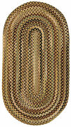Capel Rugs Bangor Wool Variegated Country Braided Oval Rug Amber Gold 100
