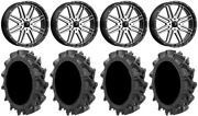 Msa Machined Brute 24 Utv Wheels 37 Motohavok Tires Can-am Maverick X3
