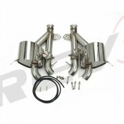 Rev9 Stainless Steel Axle Back Exhaust System Valve For 11-16 Ferrari Ff V12