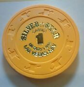 1978 Silver Star Casino Las Vegas, Nevada 1.00 Gaming Chip Great For Collection