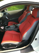 Fits For Nissan 2003-2008 350z Replacement Leather Seat Covers Red/light Grey