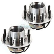 New Set Of 2 Wheel Hub And Bearing Assembly For 99 Ford F-250 Super Duty